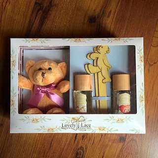 Lovely Lace Reed Diffuser With Teddy Bear