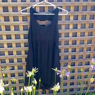 Black Cut Out Back Dress Size 12