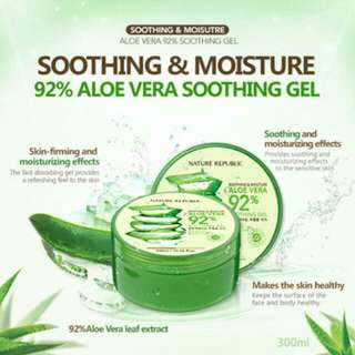 NATURE REPUBLIC 92% ALOE VERA SOOTHING GEL (100% Brand New & Authentic)
