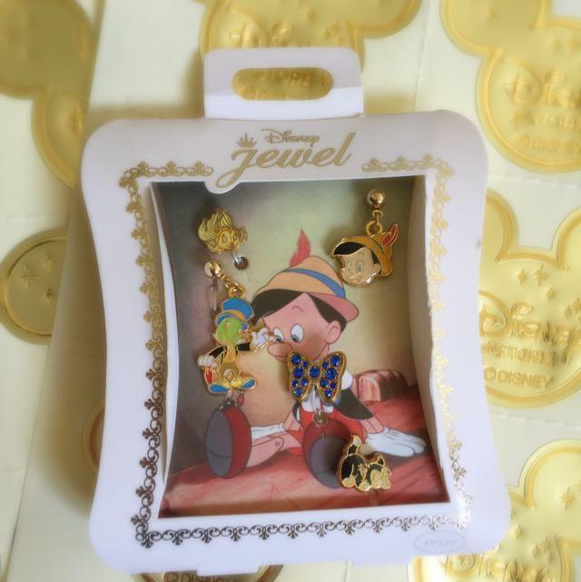 迪士尼帶回-皮諾丘整組耳環