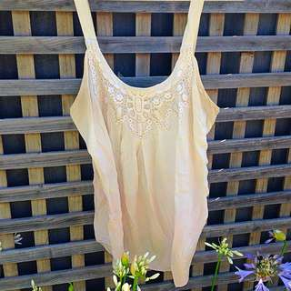 Cream Silk Forever New Top Size 12