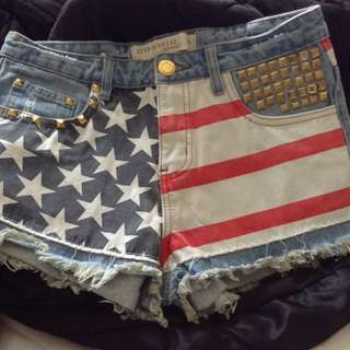 STAR SPANGLED Cosmic Jeans shorts