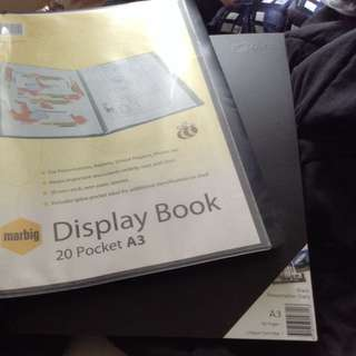 NEW Marbig A3 Display Book + Quill A3 /Black/ Presentation Diary