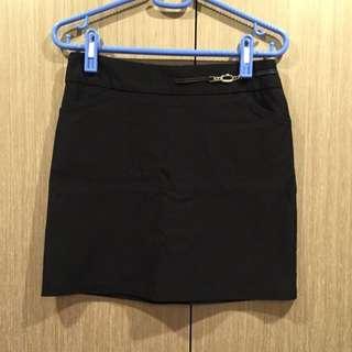 OL 上班族短裙-黑