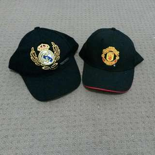 Manchester United and Real Madrid Caps