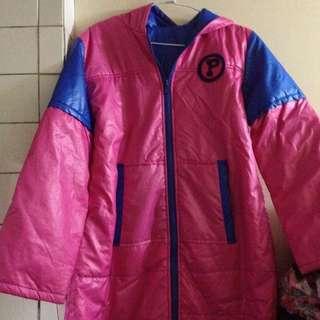 (小女孩/大人)粉色 風衣外套 大衣外套 防風外套 風衣 騎車可穿 機車騎士必備