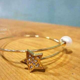日韓星星佐珍珠手環