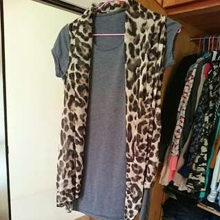 豹紋造型上衣