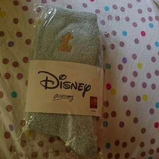 經典迪士尼家族毛毛中統襪