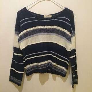藍白條紋 針織衣