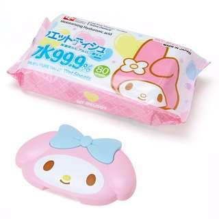 🚚 現貨~日本美樂蒂濕紙巾80枚入 <蓋可重覆使用>