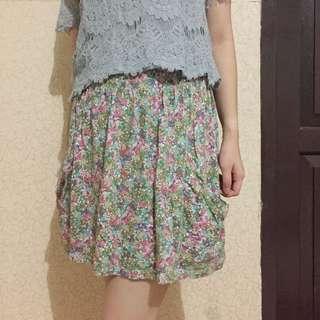 Floral Skirt by Zara TRF