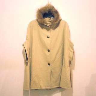 Ray Cassin 日牌 保暖羊毛斗蓬式大衣