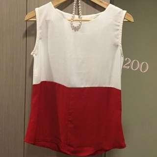 紅白上衣超好搭版形