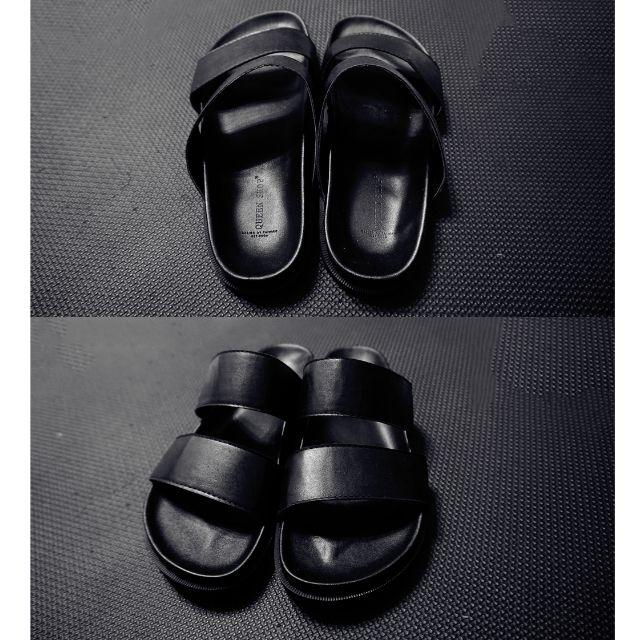 (二手)正韓男款橫二字涼拖鞋,8.5成新