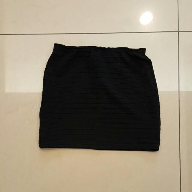 彈性灰色短裙