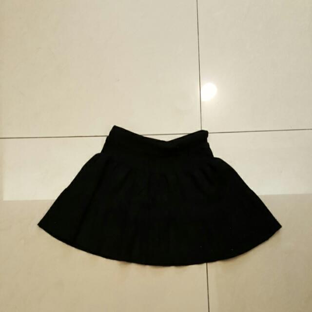 針織彈性短裙