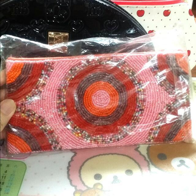 *全新含運*曼谷編織珠珠化妝包&錢包&收納包