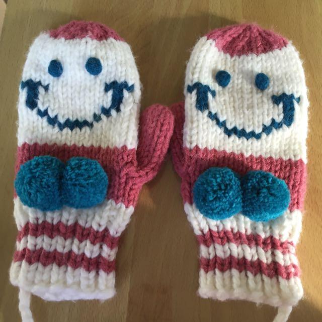 可愛笑臉手套