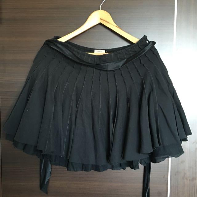 黑色綁帶澎裙