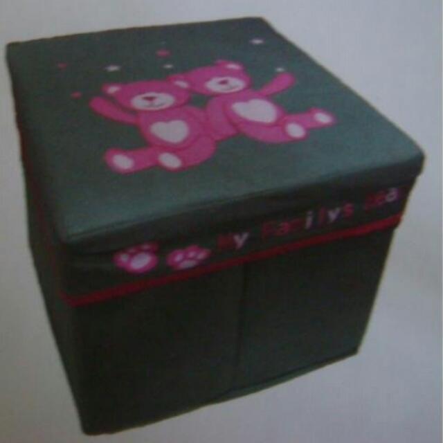 (新品)可愛熊熊收納椅~收納箱