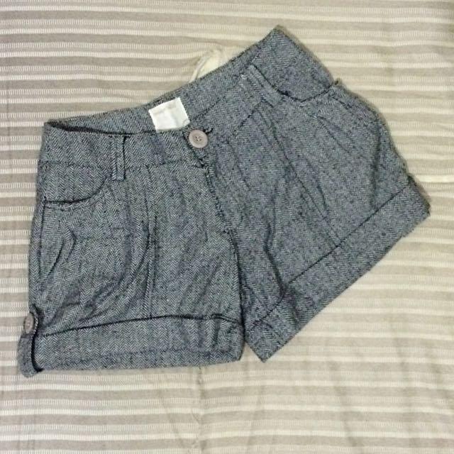 黑白圖文短褲 全新
