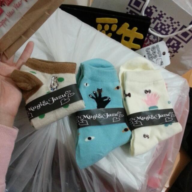 聖誕交換禮物 襪子三件組