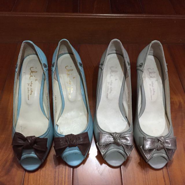 二手真品 Iki2 蝴蝶結跟鞋 23.5