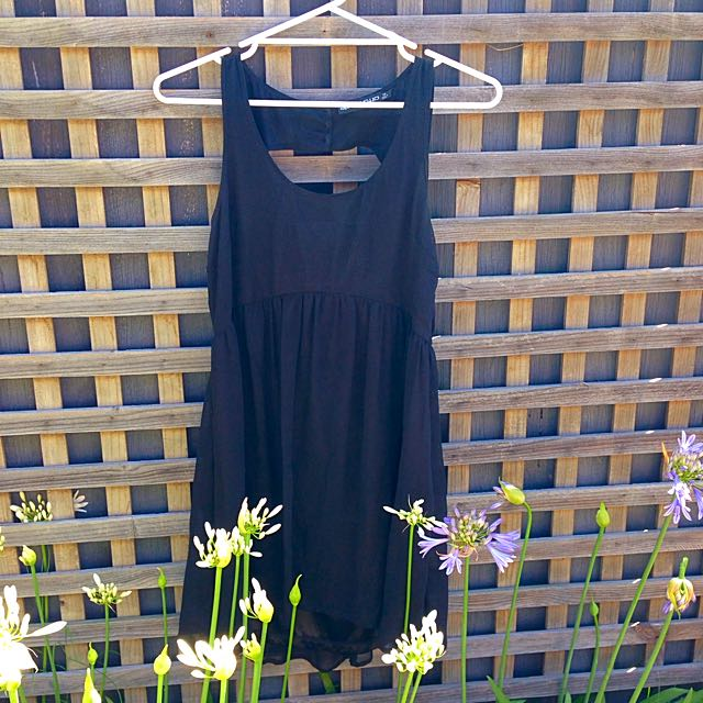 Black Cut Out Back Dress Size 12