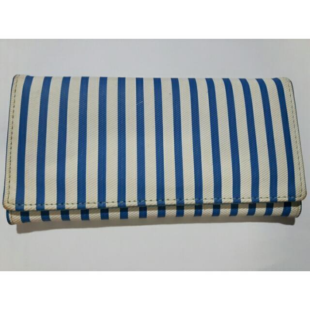 Blue Striped Wallet