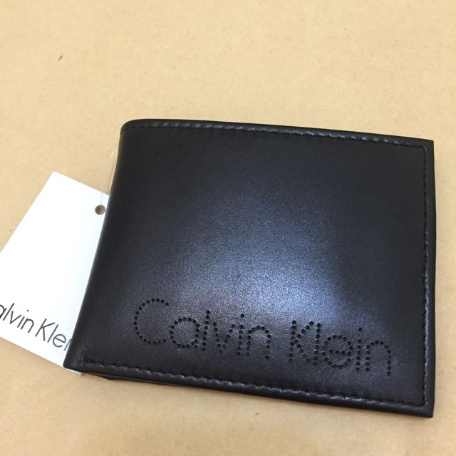 CK 真皮皮夾 零錢款