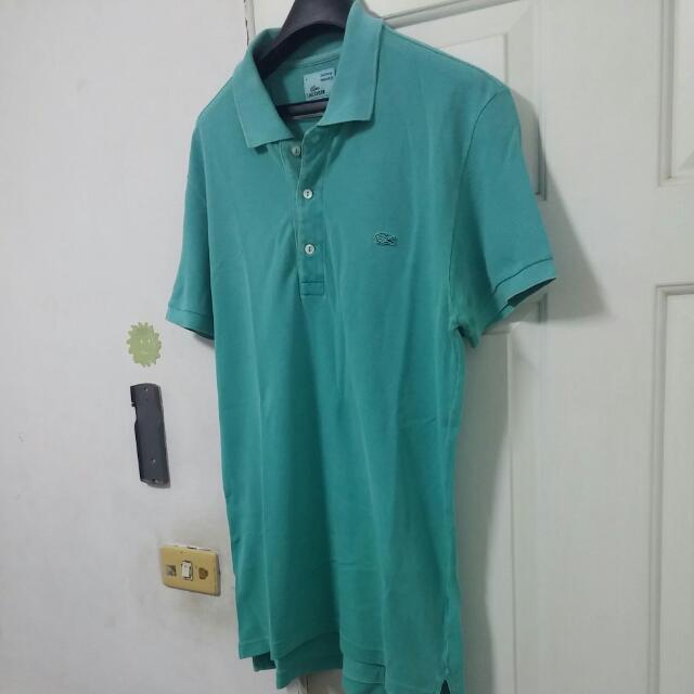 保證真品,Lacoste作舊版(vintace washed),tiffany綠polo衫,4號