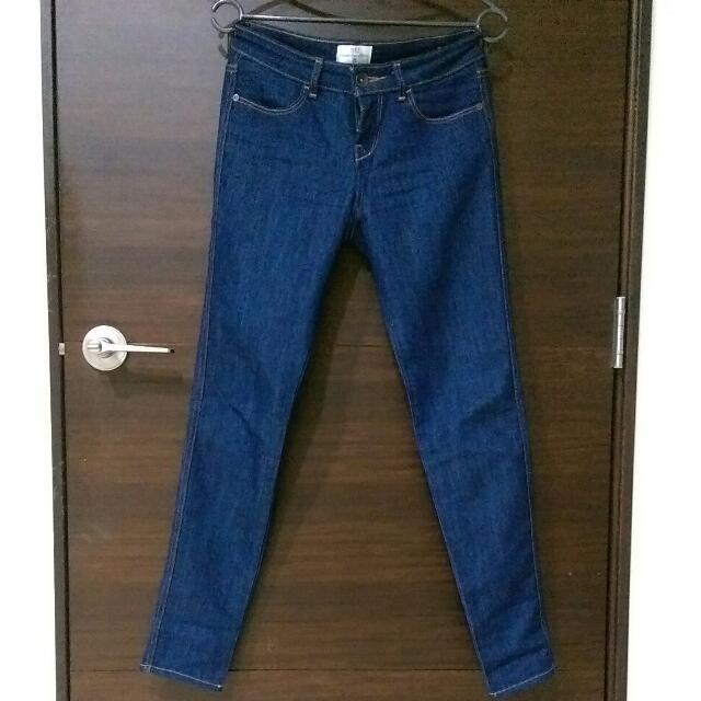 🍍NET 深藍直筒褲🍍