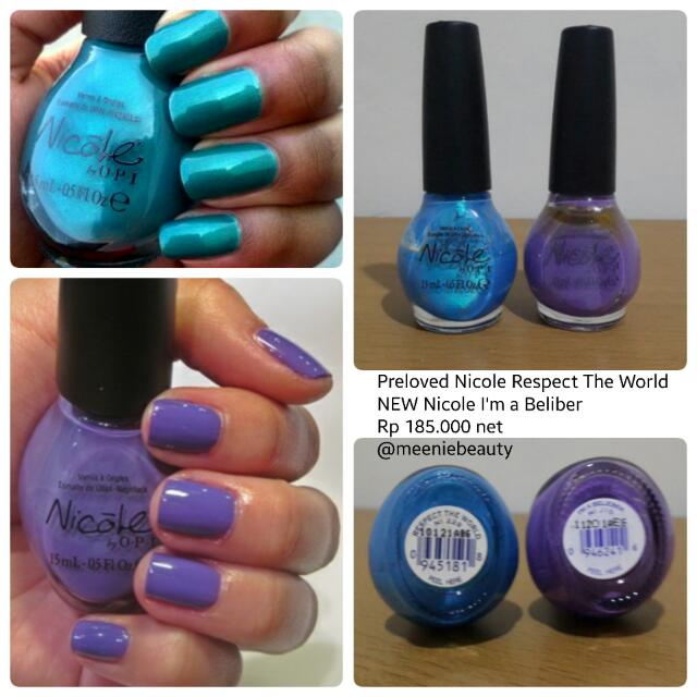 Nicole By OPI New And Preloved Nail Polish 1 Set
