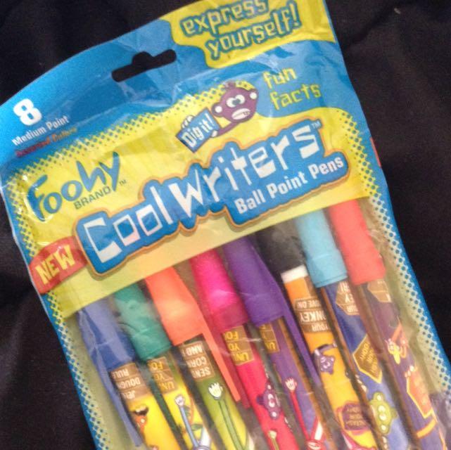 ORIGINAL FOOHY BRAND 'CoolWriters' Ballpoint pens