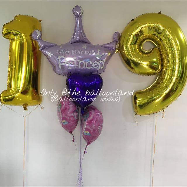 Princess 19th Birthday Balloons Everything Else On Carousell