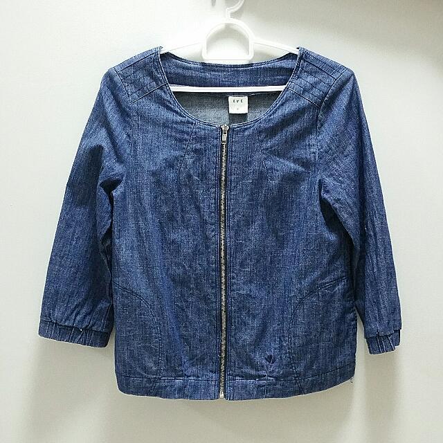 Trt Ladies Denim Jacket Half Sleeve Deep Blue Women S Fashion