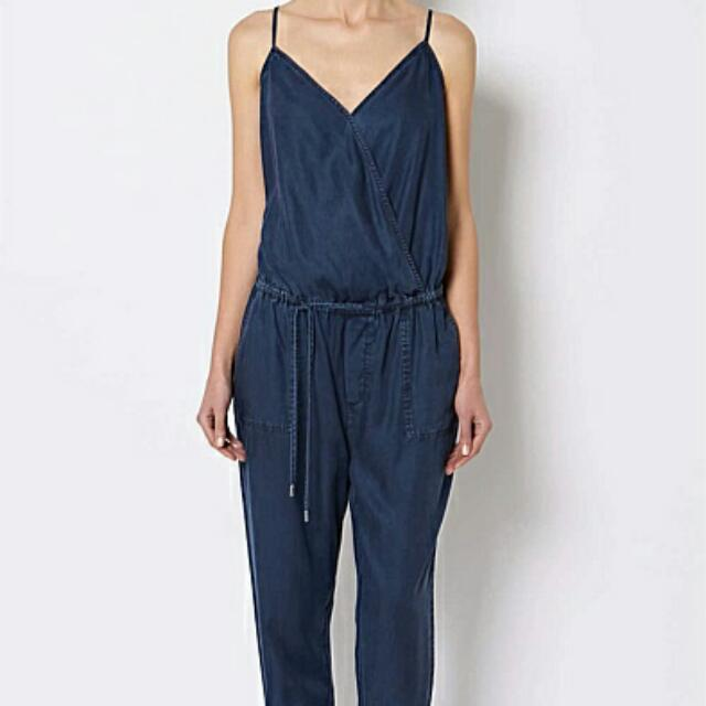 Witchery Denim Jumpsuit Sz 14 BNWT