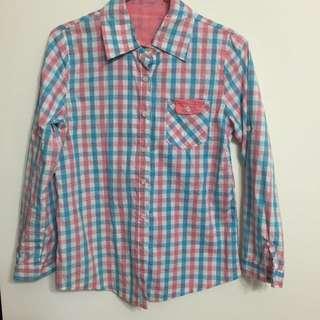 二手:馬卡龍色格子襯衫