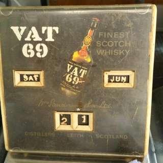 Vat 69 Vintage calander