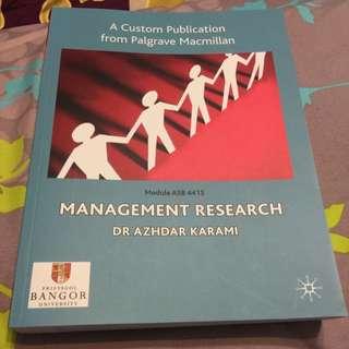 Management Research By Dr Azhdar Karami