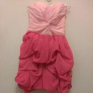 桃粉色俏麗小禮服