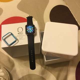 Apple Watch標準版 藍寶石鏡面 42mm 不銹鋼版