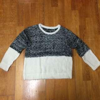 灰白針織衫
