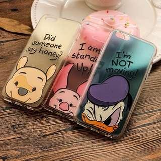 小熊維尼 唐老鴨 小豬 iPhone 手機殼 軟殼