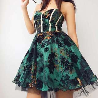 BN Exclusive Dinner Dress Green Tube