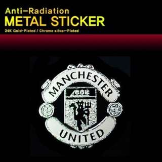 Man U Metallic anti-radiation Sticker