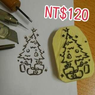 橡皮擦印章~聖誕樹