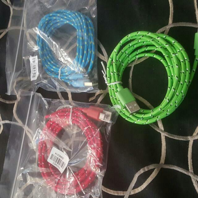3m/10ft Hemp Rope Micro USB Charger(any Color)