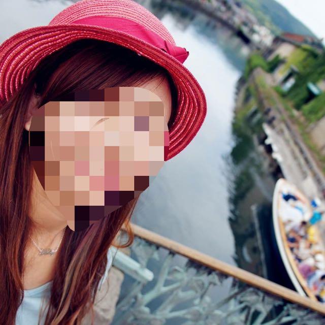 蝴蝶結粉紅色草帽